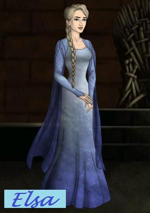 Elsa's snow dress