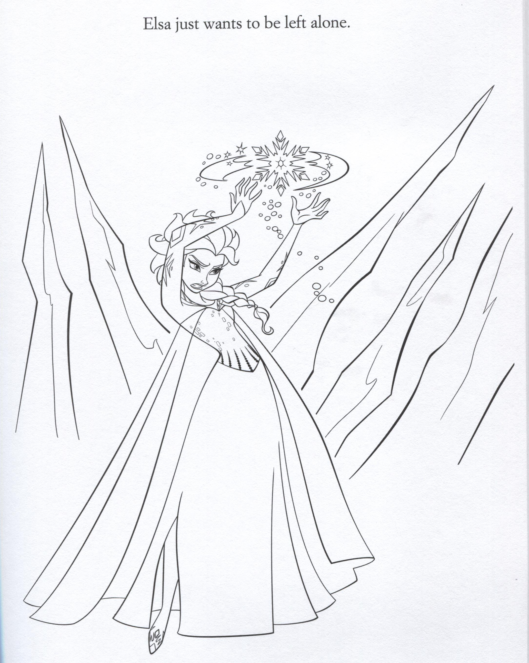 Official Frozen Illustrations Coloring Pages Frozen
