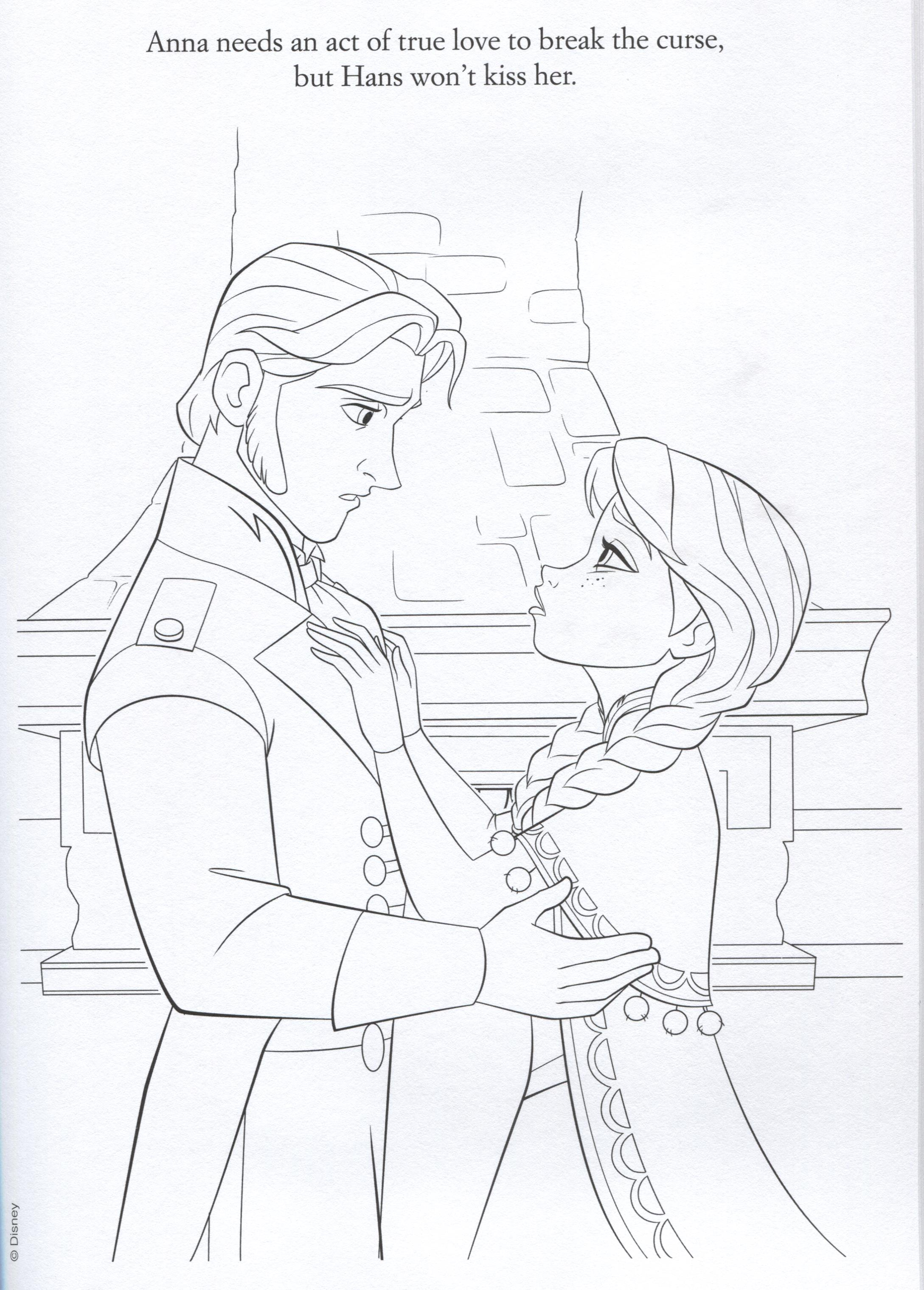 Official Frozen Illustrations Coloring Pages