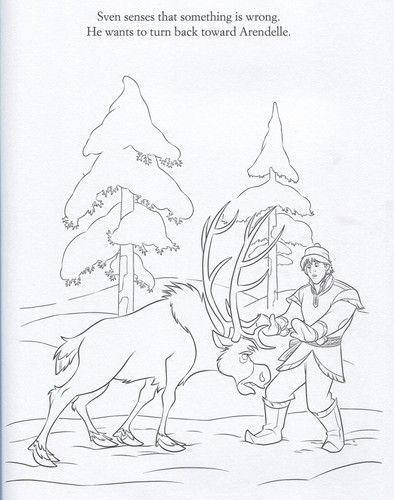 La Reine des Neiges fond d'écran containing animé called Official La Reine des Neiges Illustrations (Coloring Pages)