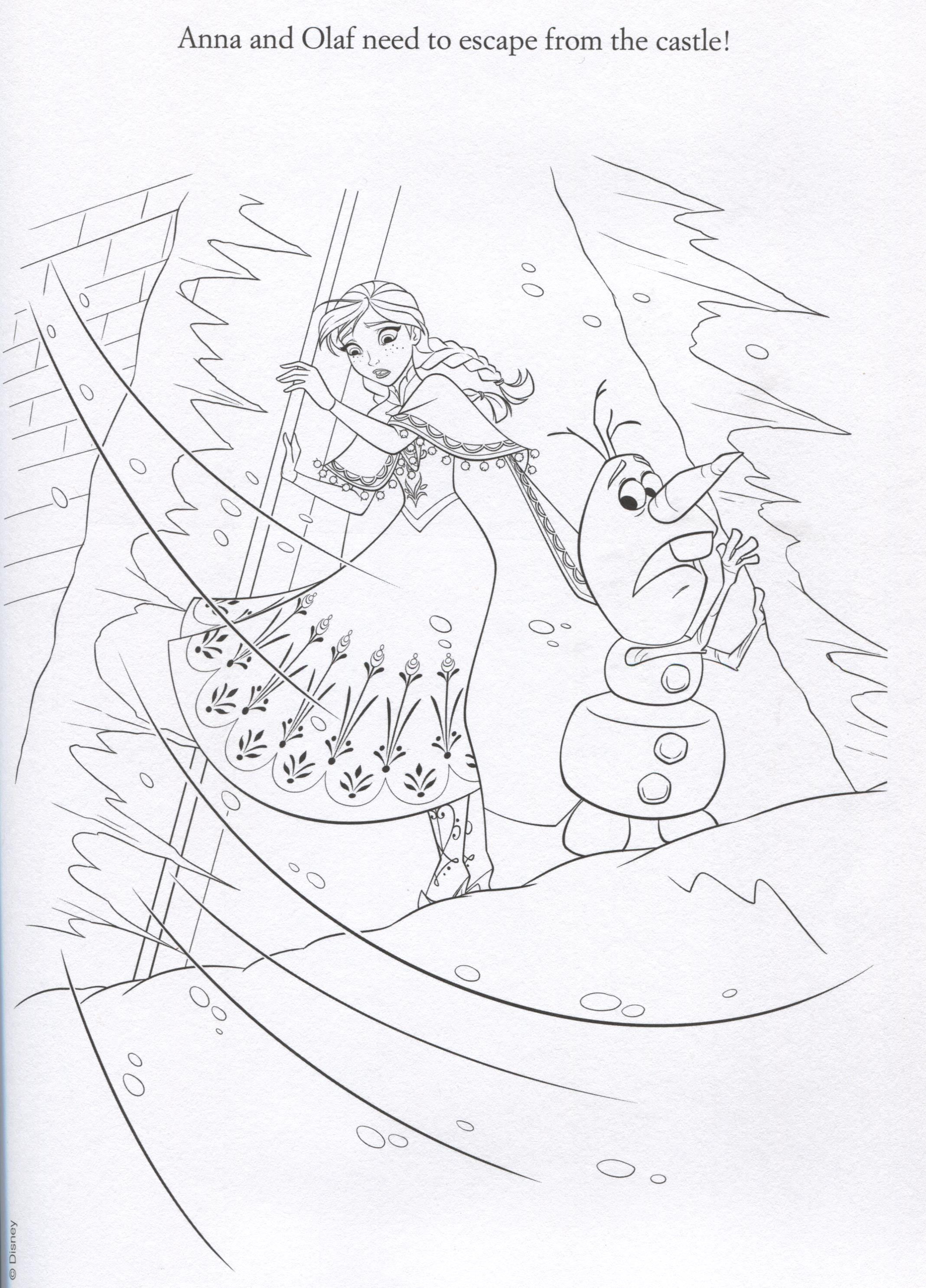 Boy Let It Go Colouring Pages