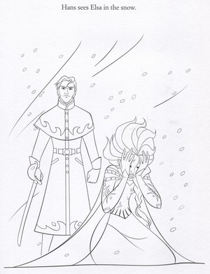 Official 《冰雪奇缘》 Illustrations (Coloring Pages)