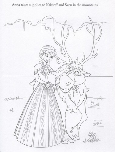 Frozen wallpaper possibly containing Anime called Official Frozen Illustrations (Coloring Pages)