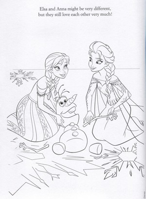 Official 겨울왕국 Illustrations (Coloring Pages)