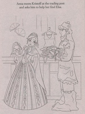 Official फ्रोज़न Illustrations (Coloring Pages)