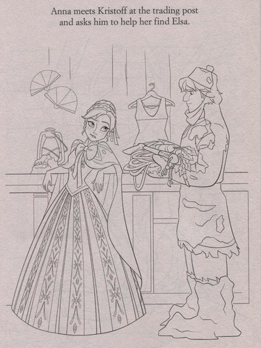 Frozen kertas dinding possibly containing Anime called Official Frozen Illustrations (Coloring Pages)