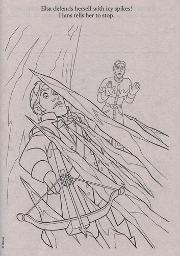 Frozen kertas dinding probably containing Anime titled Official Frozen Illustrations (Coloring Pages)
