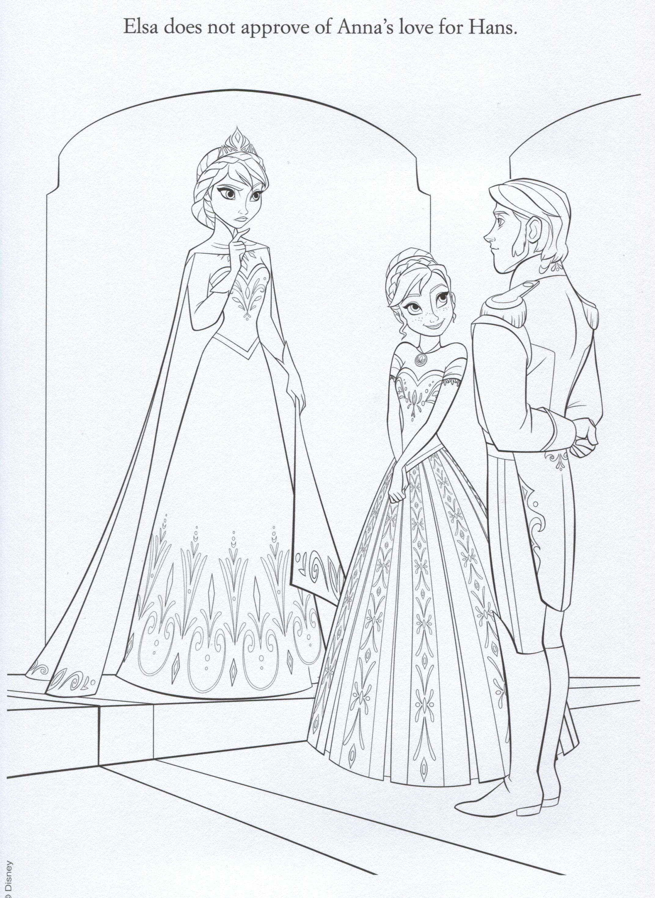 Frozen Images Official Illustrations Coloring Pages HD Wallpaper And Background Photos