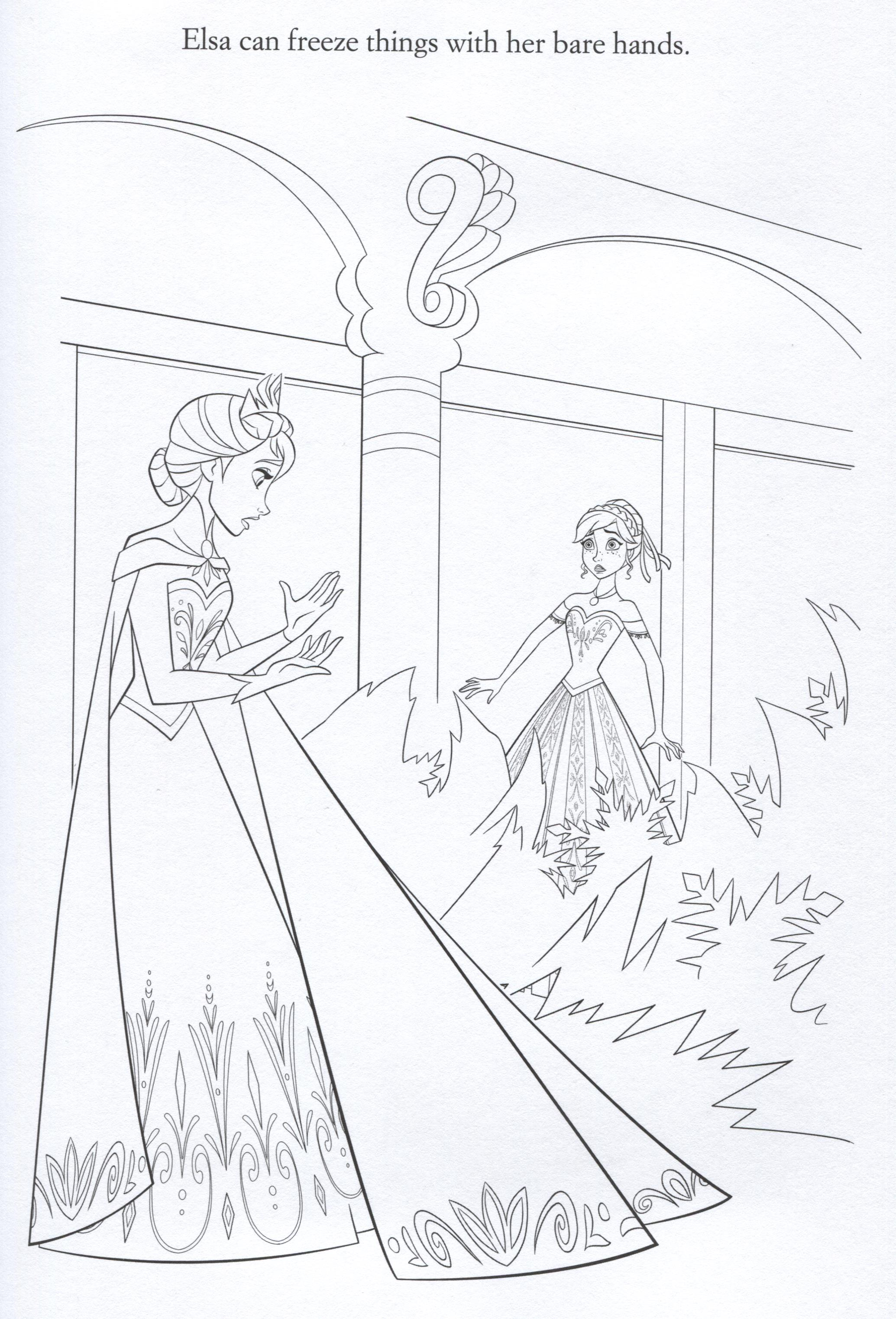 Colouring Pages Frozen Movie Official Frozen