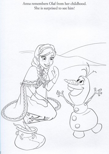 Frozen wallpaper with Anime titled Official Frozen Illustrations (Coloring Pages)