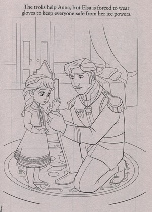 Official アナと雪の女王 Illustrations (Coloring Pages)