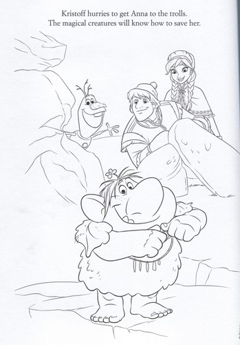 Frozen kertas dinding containing Anime entitled Official Frozen Illustrations (Coloring Pages)