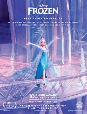 "Frozen ""For your consideration"" ad:"