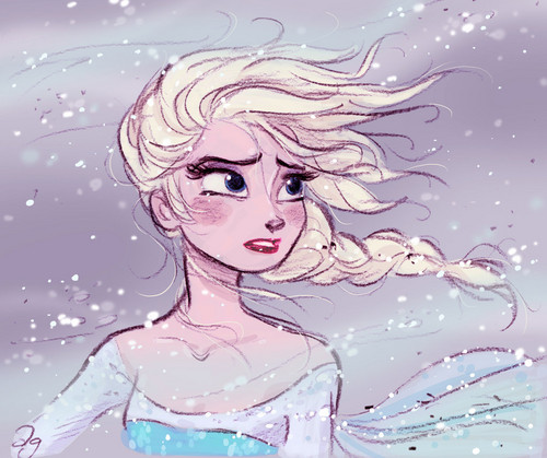 Frozen wallpaper possibly containing anime entitled Elsa Fan Art