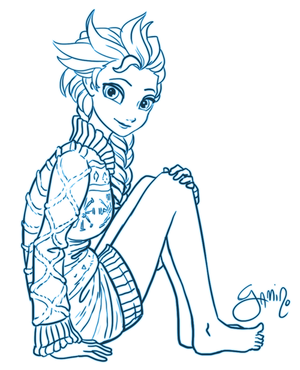 Elsa In A Sweater