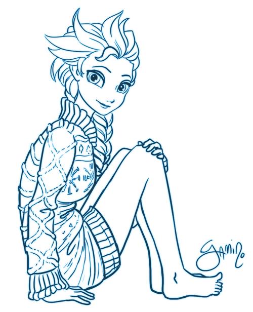 Elsa In A Sweater