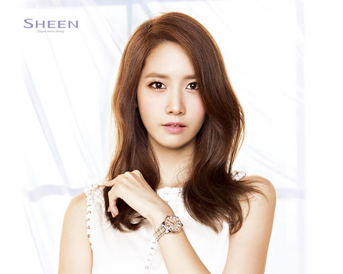 Girls Generation/SNSD wallpaper containing a portrait and attractiveness titled Yoona @ Casio SHEEN