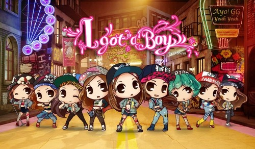 Girls Generation/SNSD kertas dinding entitled SNSD I Got A Boy Chibi