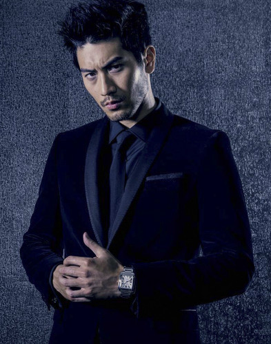 Godfrey Gao achtergrond possibly containing a well dressed person and an outerwear titled Godfrey for 'Watch This Space Magazine'