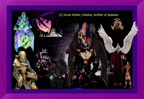 Halo wallpaper probably with anime called Falodus, Prophet of Hope, DopYap, Thel Vadam, Rukia, Lu Xun and Zuang Lun Wang