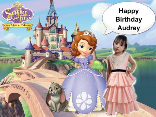 소피아 공주 바탕화면 entitled Happy Birthday Audrey