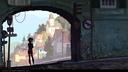 Hotel Transylvania Обои with a улица, уличный entitled Mavis' Adventures (Concept Art for Hotel Transylvania)