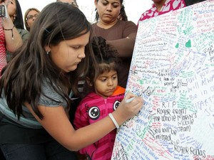 fans paying their respects to Paul Walker