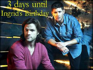 3 days until Ingrid's Birthday... BOOM!
