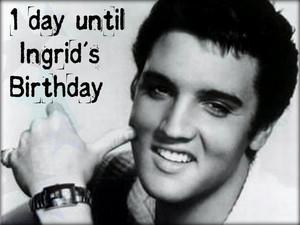 Tomorrow is Ingrid's Birthday...it's the final few hours!!