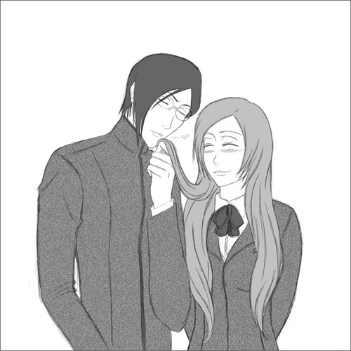 Ishida & Orihime fã Club wallpaper probably containing a business suit and a well dressed person titled IshiHime!!