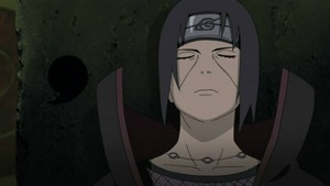 itachi closed eyes