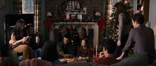 Jacob Black and Renesmee Cullen 壁纸 possibly with a 街, 街道 entitled 圣诞节 (2)