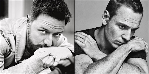James McAvoy and Michael Fassbender वॉलपेपर possibly containing a neonate called Fassavoy ღ