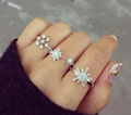 snowflake rings - jewelry photo
