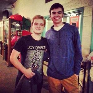 Josh with a fan in Cincinnati today (12/12/13)
