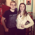Josh with a fan (12/12/13) - josh-hutcherson photo