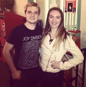Josh with a fan (12/12/13)