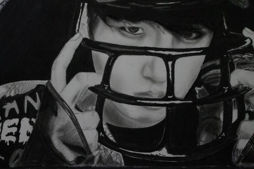 Jungkook (BTS) پیپر وال containing a football ہیلمیٹ called ♥ º ☆.¸¸.•´¯`♥ Jungkook! ♥ º ☆.¸¸.•´¯`♥