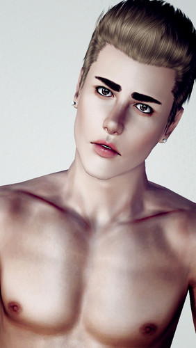 Justin Bieber wallpaper containing skin called Justin Bieber Sims 3