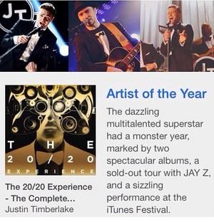 iTunes NamesJT Artist of the tahun 2013