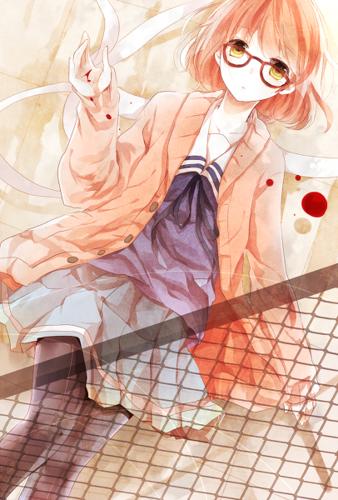 Kyoukai no Kanata achtergrond called Mirai Kuriyama