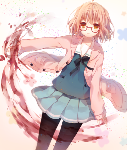 Kyoukai no Kanata 壁纸 possibly with sunglasses entitled Mirai Kuriyama
