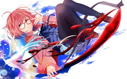 Kyoukai no Kanata wallpaper entitled Mirai Kuriyama sword wallpaper