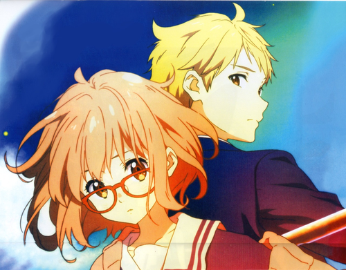 Kyoukai no Kanata achtergrond probably with anime called Mirai Kuriyama
