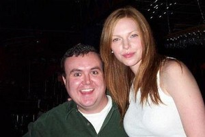 Laura Prepon on the set of Slackers