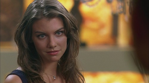 Lauren Cohan achtergrond containing a portrait titled LC as Bela Talbot in SPN Screencaps