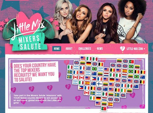 little mix fondo de pantalla entitled Mixers Salute