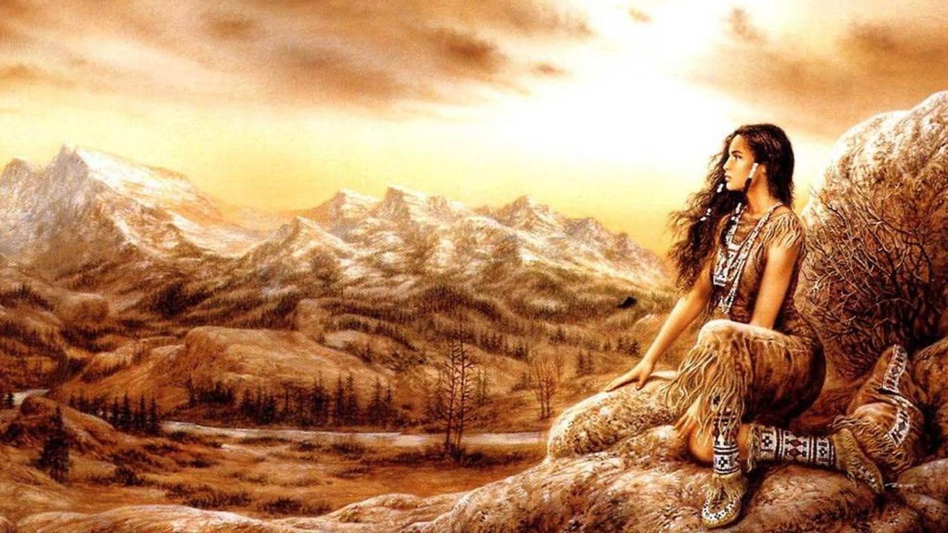 Woman in Scenery