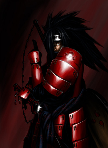 Madara Uchiha wallpaper with a breastplate and an armor plate titled fanart madara 1