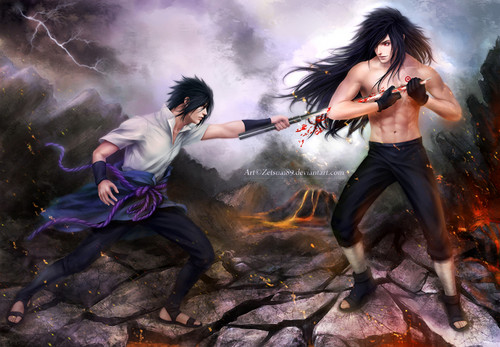Madara Uchiha wallpaper possibly containing a fire called *Sasuke v/s Madara*